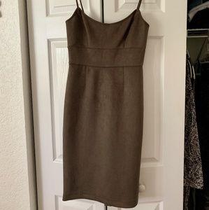 Brown Suede like dress
